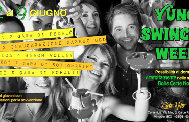 Young Swinger week dal 2 al 9 Giugno