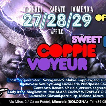 28 Aprile Party ufficiale per swett bull voyeur e coppie