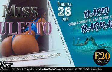 Sab 27: Miss Culetto – Dom 28: Bacio Bagnato