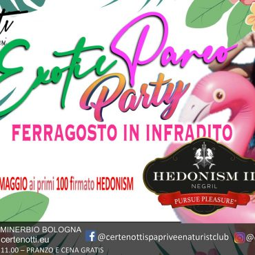 Exotic pareo party: 100 paero Hedonism in omaggio