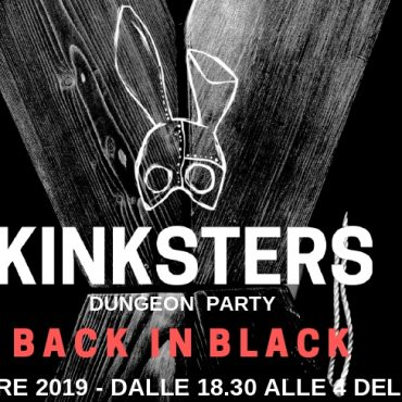 Kinkster dungeon party: black in black