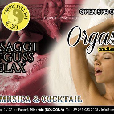 Orgasmic night: massaggi aufguss relax