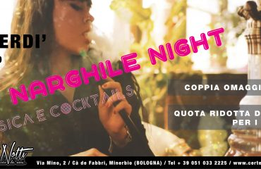 Narghilè night: musica e cocktails