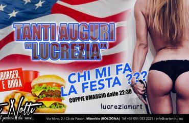 Cena Americana e Tanti auguri Lucrezia: chi mi fa la festa?