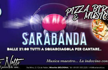 Sarabanda: pizza birra e musica