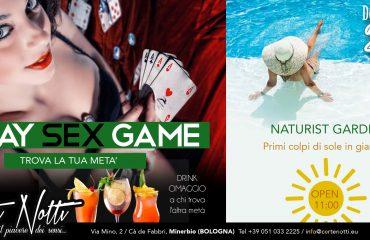 UN WEEK-END che VALE DOPPIO: play sex game & naturist garden