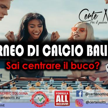 Torneo di Calcio balilla: sai centrare il buco?