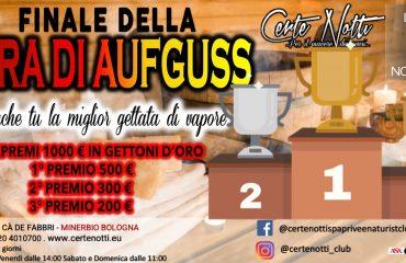 Finale Gara di aufguss – vota la migliore gettata di vapore – Montepremi 1000€