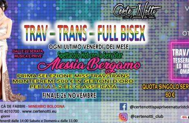 Trav – Trans – Full Bisex: Spettacolo hot con la sexy star Alessia Beramo – Prima selezione miss Trav-Trans