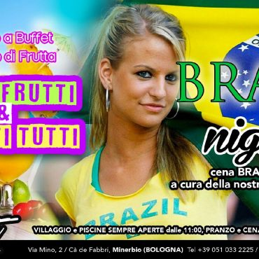 Aperitivo alla frutta e Brazil Night con cena brasiliana