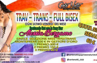Trav – Trans – Full Bisex: Spettacolo hot con la sexy star Alessia Beramo – Finale selezione miss Trav-Trans