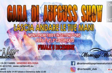 Gara di aufguss show: lascia andare le tue mani – Montepremi 1000€